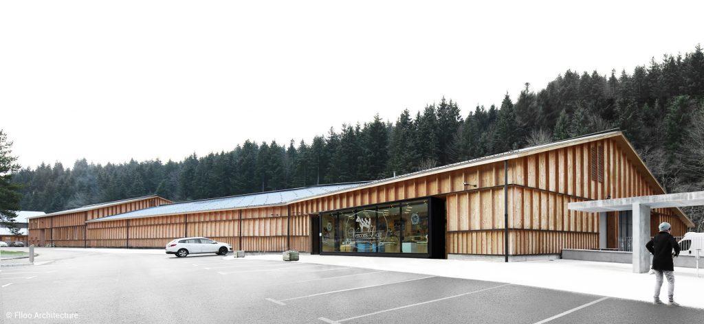 bâtiments agricoles en bois coopérative vercors lait