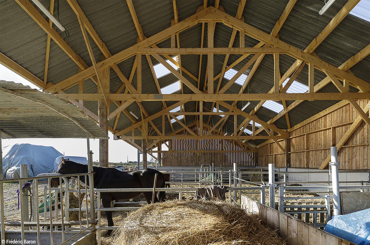 Bâtiments agricoles en bois ferme bio